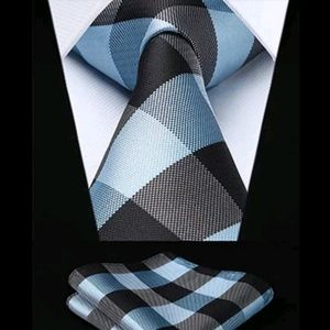 GUNTHER PLAID PODIUM TIE& SQUAREZ